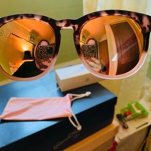 Copper lenses with pink tortoise rims